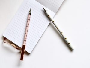 Notepad and Pens